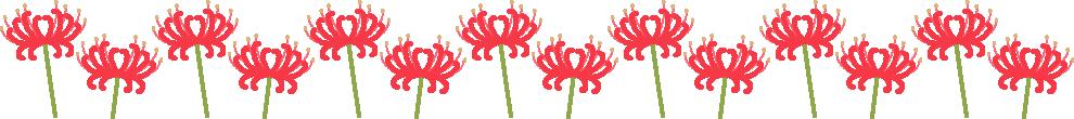 彼岸花のライン飾り罫線イラスト<大>