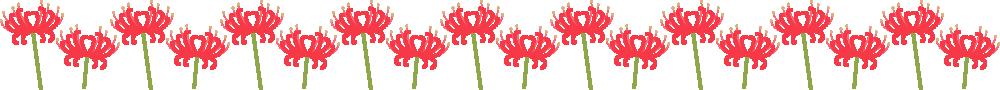 彼岸花のライン飾り罫線イラスト<小>