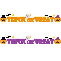 Trick or Treat(トリックオアトリート)のイラスト文字