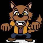 【ハロウィンのイラスト】かわいい狼男(オオカミ男)