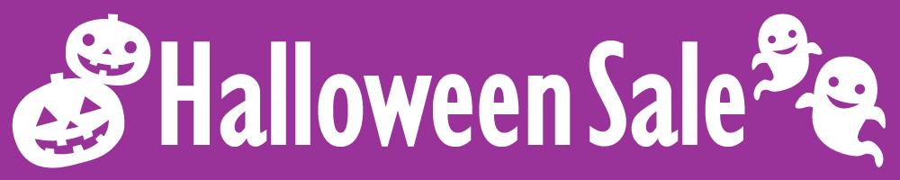 Halloween Sale(ハロウィンセール)の見出しタイトル画像・バナー素材<紫色>