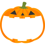 ハロウィンかぼちゃランタンのフレーム枠イラスト
