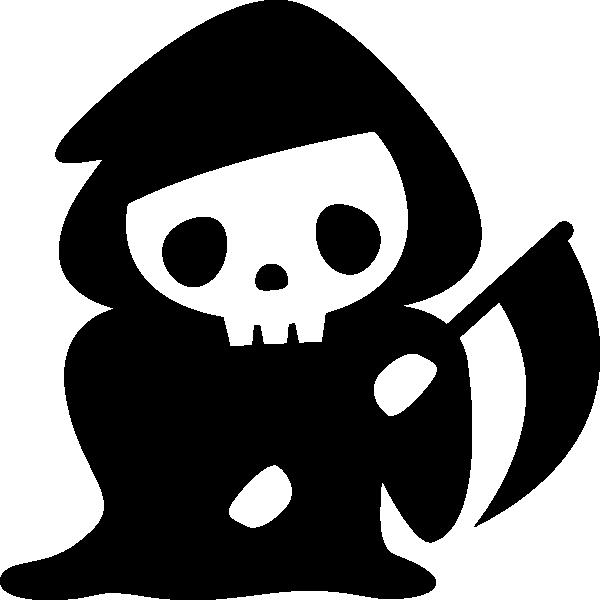 死神の白黒イラスト 無料フリーイラスト素材集frame Illust