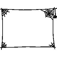 クモの巣のフレーム枠イラスト素材