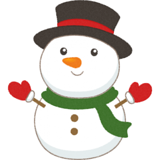 可愛い雪だるま(スノーマン)のイラスト
