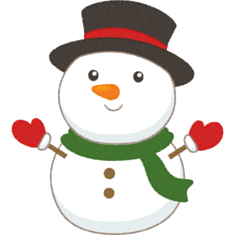 可愛い雪だるまスノーマンのイラスト 無料フリーイラスト素材集