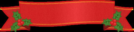 赤いリボンのフレームイラスト<中>