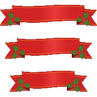 【クリスマス】赤いリボンのフレームイラスト