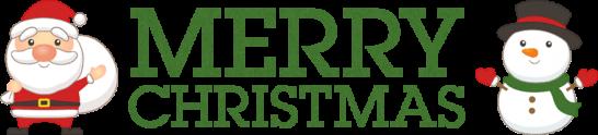 クリスマスのタイトル文字「MERRY CHRISTMAS」<緑>