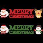 クリスマスのタイトル文字素材「MERRY CHRISTMAS」