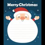 【Xmas】サンタクロースのメッセージフレーム枠イラスト