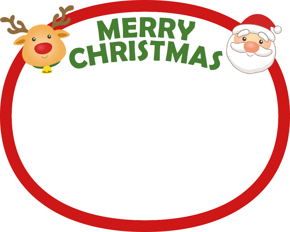 クリスマスの丸型フレーム枠素材 | 無料フリーイラスト素材集【frame