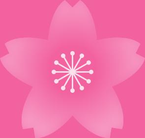 桜の花(濃いピンク・雄しべ白色)