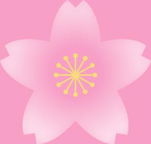 桜の花(薄いピンク・雄しべ黄色)