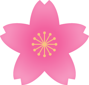 桜の花(濃いピンク・雄しべ黄色)