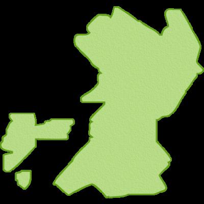 熊本県の地図イラスト