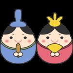 【ひな祭り】タマゴ型のひな人形イラスト(お内裏様・お雛様)