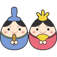 【ひなまつり】ひな人形(お内裏様・お雛様)のイラスト