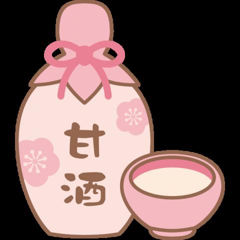 甘酒のイラスト