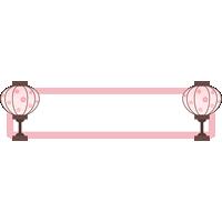 ひな祭りの見出し用フレーム飾り枠イラスト(ぼんぼり)
