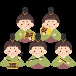 五人囃子(ごにんばやし)のイラスト