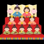 雛人形(三段飾り)のイラスト素材