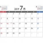 PDFカレンダー2019年7月