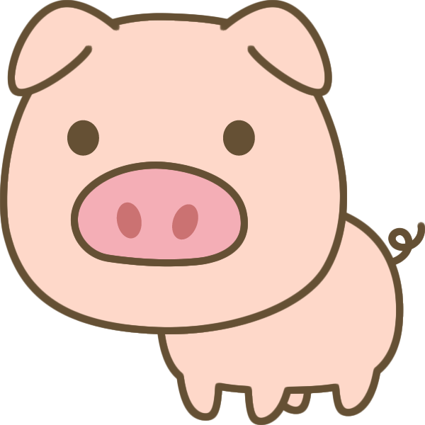 豚のイラスト 無料フリーイラスト素材集frame Illust