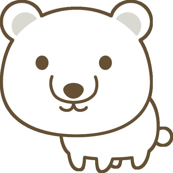 かわいい白熊のイラスト