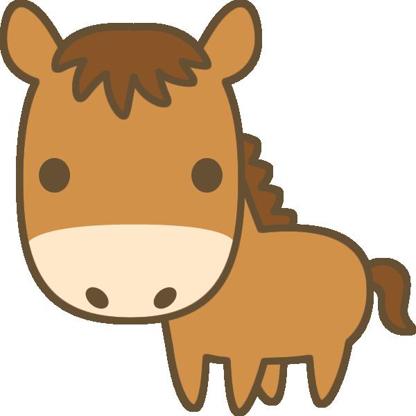かわいい馬のイラスト
