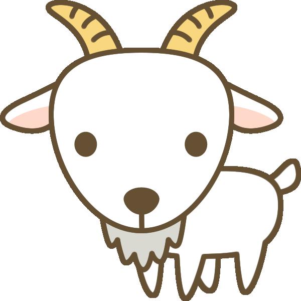 かわいい山羊(やぎ)のイラスト