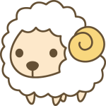 羊(ひつじ)のイラスト