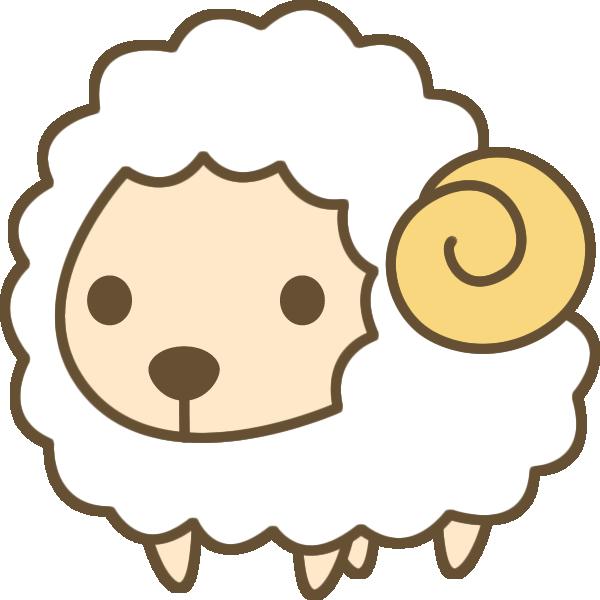 かわいい羊(ひつじ)のイラスト