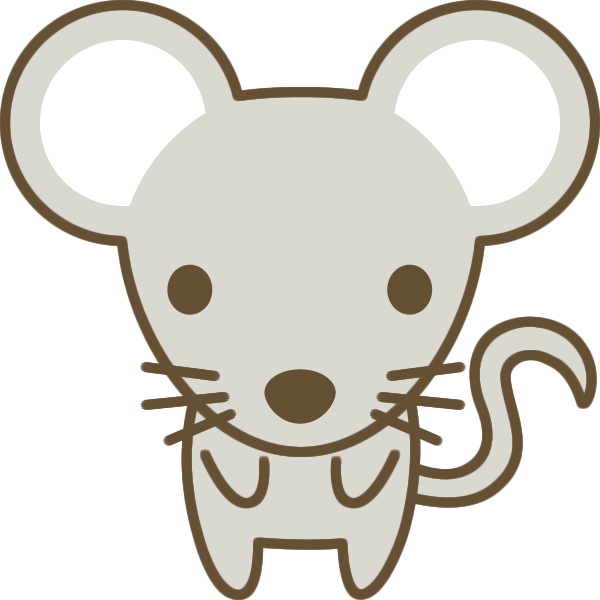 かわいい鼠(ねずみ)のイラスト