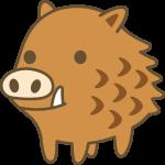 かわいい猪(いのしし)の動物イラスト