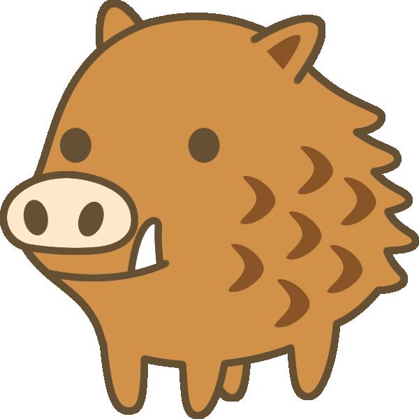 かわいい猪(いのしし)のイラスト