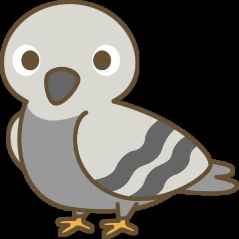 かわいい鳩(はと)のイラスト