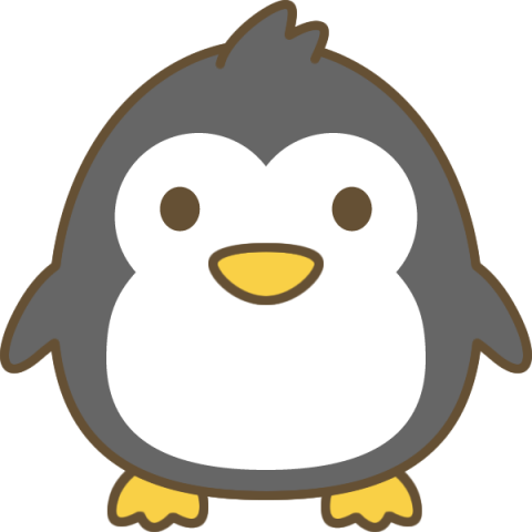 かわいいペンギンのイラスト