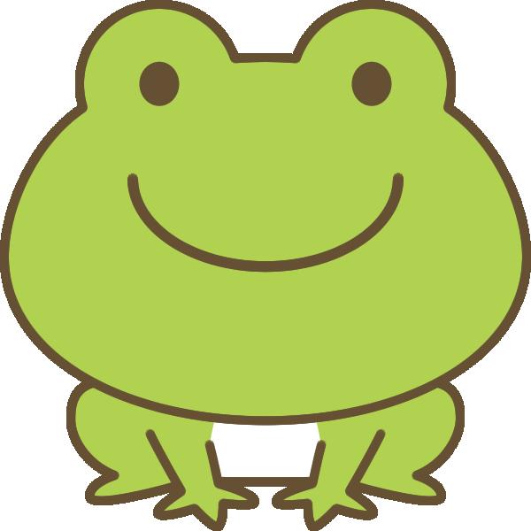かわいい蛙(かえる)のイラスト
