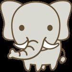 象(ぞう)のイラスト