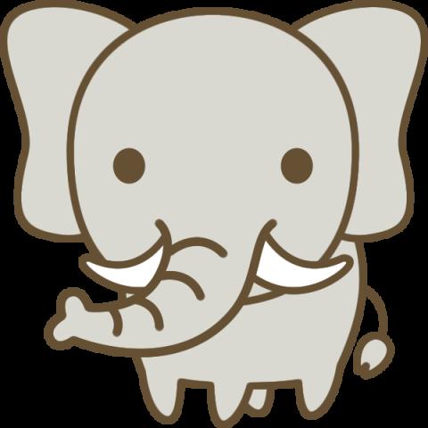 かわいい象(ぞう)のイラスト