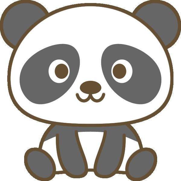 かわいいパンダのイラスト