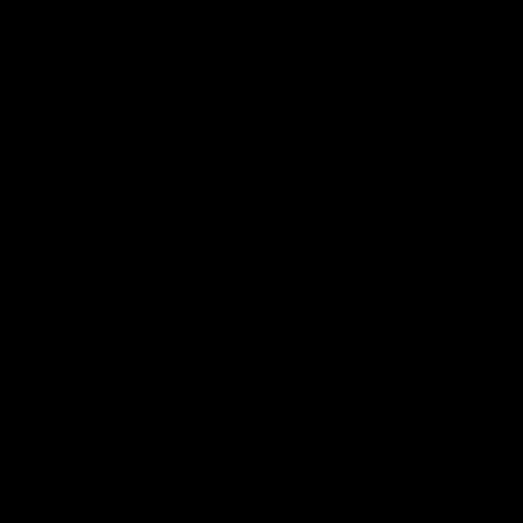 ビットコインのシルエットアイコン(黒色)