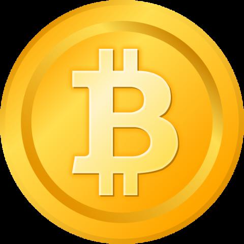 ビットコインのイラスト(金色)