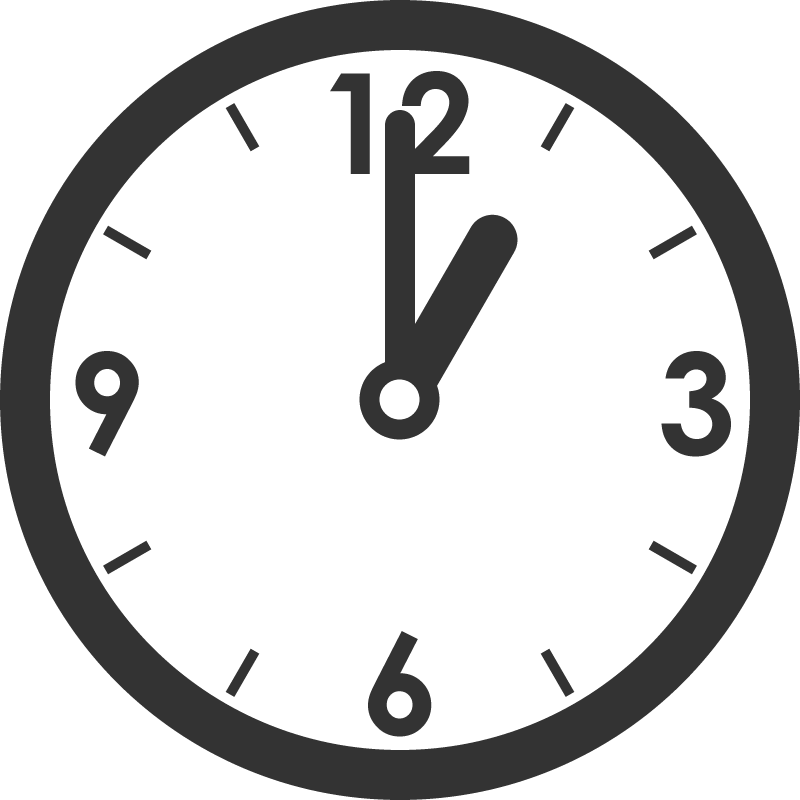 時計のイラスト(1時)