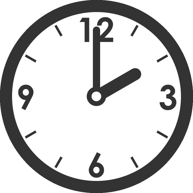 時計のイラスト(2時)