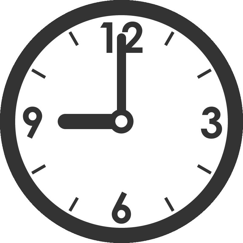 時計(時刻)のイラスト 無料フリーイラスト素材集【frame Illust】