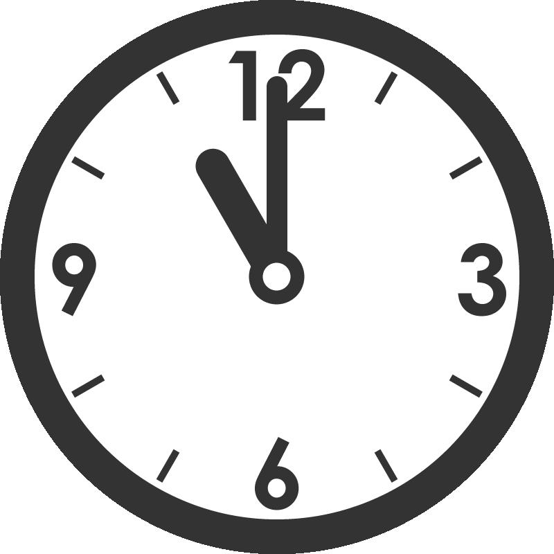時計のイラスト(11時)