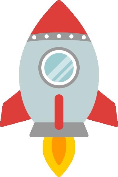 ロケットのイラスト(赤色)