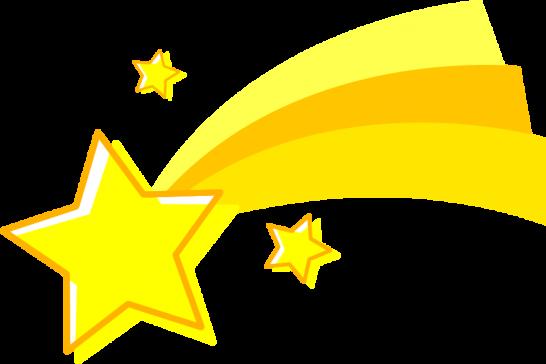 流れ星のイラスト(グラデーション)